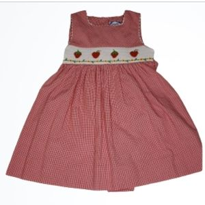 Carriage Boutiques Smocked Strawberry Dress